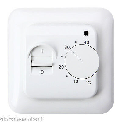 temperaturregler regler thermostat f r fussbodenheizung raumthermostat heizung eur 11 99. Black Bedroom Furniture Sets. Home Design Ideas