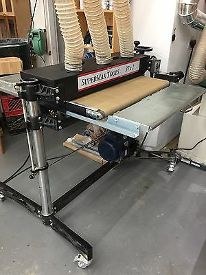 SuperMax 37x2  Double Drum Sander 5HP Single Phase with infeed/outfeed tables