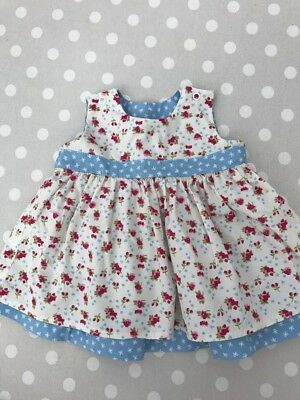 Adorable Reversible Baby Girl Dress 0-3 Months