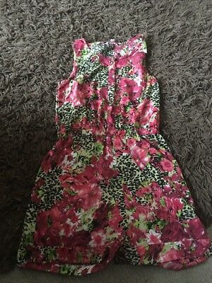 Girls Peacocks Floral Playsuit age 14