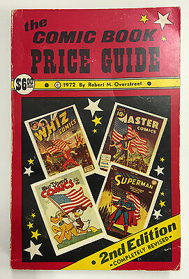 1972 Overstreet Comic Book Price Guide 2nd edition softcover Marvel DC Comics