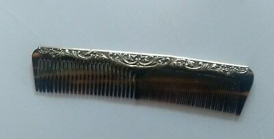 Antique Silver Embossed Comb