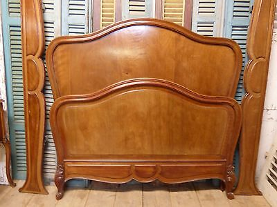 Impressive Antique  Double French Bed - Great Detail - fd101