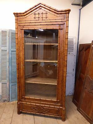 LOVELY ANTIQUE FRENCH ARMOIRE - DISPLAY - BOOKCASE - LINEN CUPBOARD - ca125