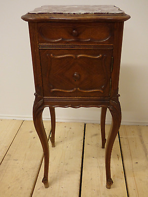 Antique French Bedside Cabinet / Lamp Table - g87