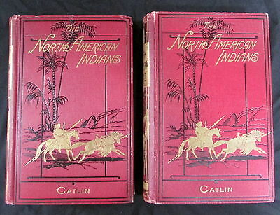 Rare 1876 Illustrations  Manors Customs Of The North American Indian By Catlin