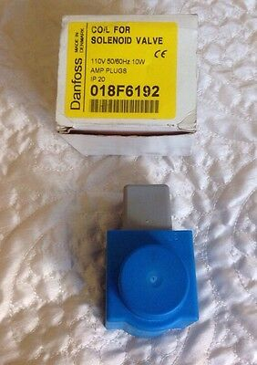 Danfoss Coil For Solenoid Valve 018F6192 110V 50/60Hz 10W Amp Plugs IP20