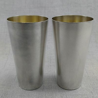 Wilhelm Binder Silver Drinking Cups ~ Pair Of .835 Silver Cups Marked 835 WTB