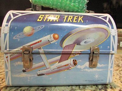 Vintage Awesome Old Rare 1968 Star Trek Metal Dome Lunchbox & Thermos W/tag