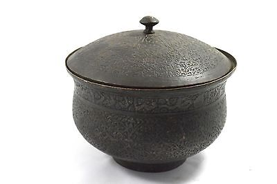 Great Old Islamic Mughal C 1750 Collectible Copper Pot Rich Patina. G3-29