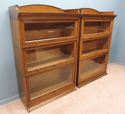 A Pair Of Antique Lebus Office,lawyer Or Library Bookcases Circa 1900-1920