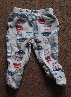 0-3 Months Mothercare Cute Footed Cars Boy Trousers As15