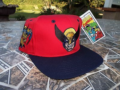 4ab8482e5a7 Wolverine X Men Marvel Comics Toon Blockhead Vtg 1993 SnapBack Hat Cap NEW  Logan
