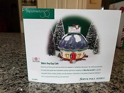 "Dept 56 North Pole Series ""Tillie's Tiny Cup Cafe"" #56401 with Box ~ Retired"
