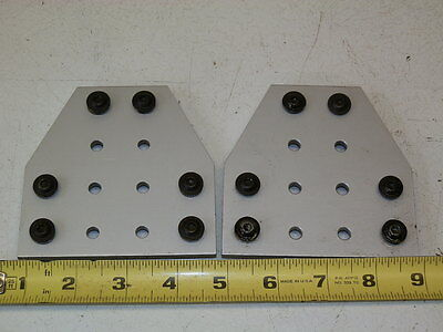 TWO 80/20 Inc T-Slot Aluminum 12 Hole - Tee Flat Plate 10 Series
