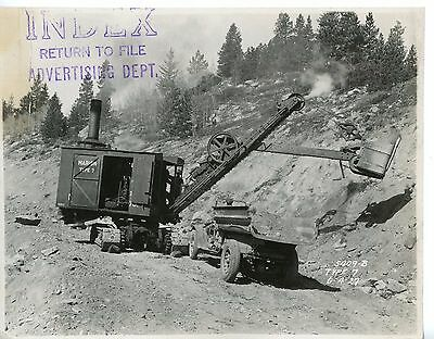 1927 8 x10 Photo Marion Steam Shovel Marion Type 7 at work
