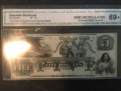 The New England Commercial Bank $5.00