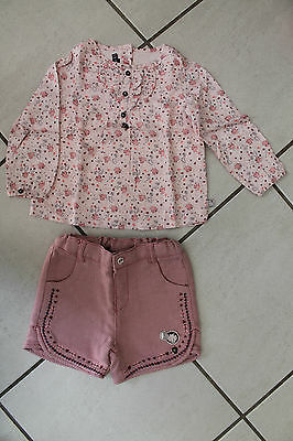 Lot Ensemble SERGENT MAJOR 18 mois short et tunique excellent état fille rose