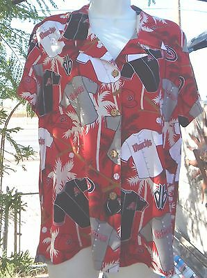 New Ladies Reyn Spooner Hawaiian Shirt Size Medium - Arizona Diamondback Themed