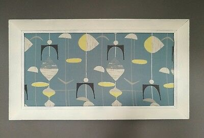 Large Original Vintage Mid Century 50's Mahler Abstract Atomic Mobile Framed Art