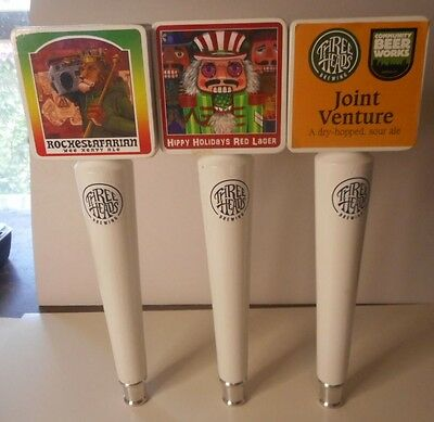 Three Heads Brewing Beer Tap Handle Lot    LOOK!!