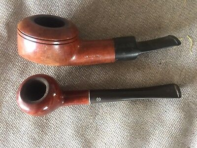2- Estate Tobacco Pipes Imported Briar Morell Mckenzie, A Chubby No Name
