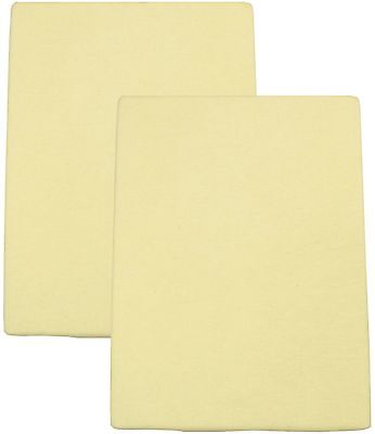 Mothercare Yellow fitted Cot sheet x1