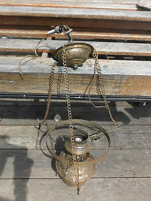 Antique Brass-Colored Chandelier