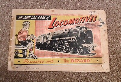 D.C.Thomson Wizard Comic Book, My own log book of Locomotives, Trains, Full set