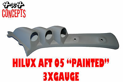 "to suit Toyota Hilux aft 05 TRIPLE PILLAR POD ""NEW"" NOT PAINTED Black 52mm"