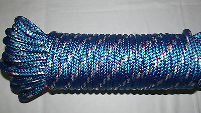 "3/8"" (10mm) x 90' Double Braid Sail/Halyard Line, Jibsheets, Boat Rope -- NEW"