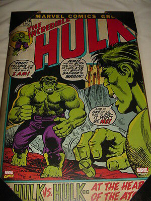 "The Incredible Hulk #156 Comic Book Wall Art/Wood Plaque, 13""x19""! MIB!"