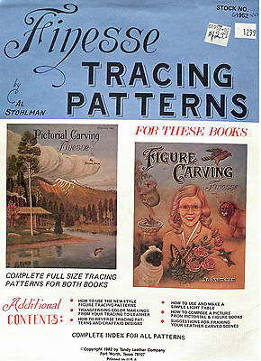 Finesse Tracing Leathercraft Patterns by Al Stohlman - AMAZING 48 pages