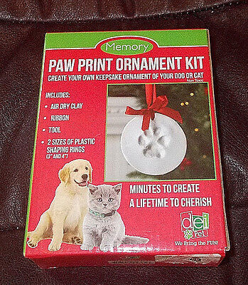 Memory Pet Paw Print Clay Ornament Kit Non Toxic No Mixing or Baking Easy to Use