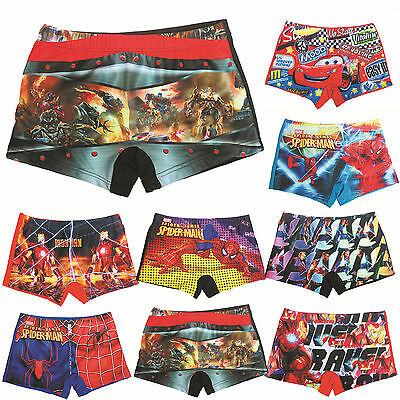 Kids Boys Spiderman Superhero Swim Shorts Summer Beach Swimwear Swimming Trunks