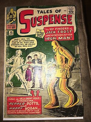 Tales Of Suspense #45 G  Iron Man First Appearance Of Harry & Pepper Potts!