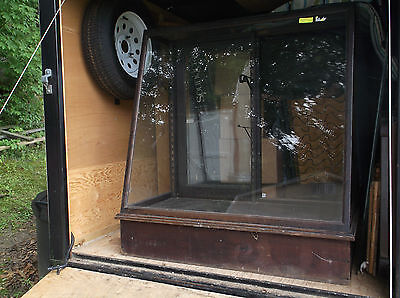 Antique Display Case with slanted glass front