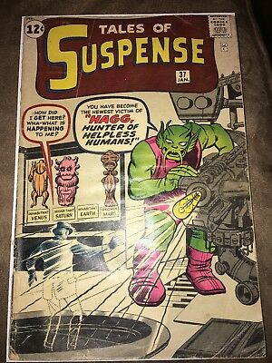 Tales of Suspense #37 (1963 Marvel Comics) pre-hero Silver Age Nice Collectable