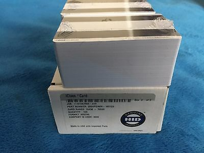 HID iClass cards 100 count 2000PG3MN-160123 Format H53743 ID CODE 3809 Sealed