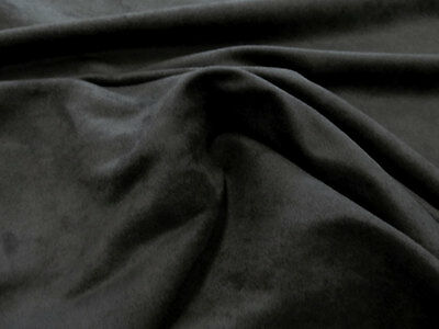 Micro Suede Microfiber Passion Black Suede Upholstery Fabric 58