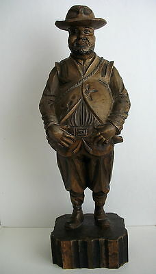 "Vintage 1960 15.5"" Pancho Villa Wood Carved Statue Ouro Artesania Spain #705"