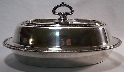 Nice Silverplate Covered Serving Bowl (Converts to 2 Bowls 5806N