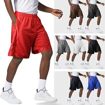 PROCLUB Mens MESH Basketball Shorts HEAVY Weight Gym Fitness Pocket Premium
