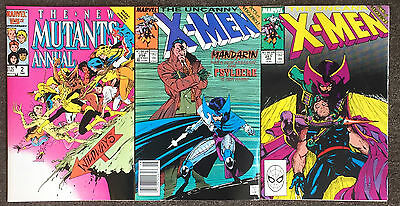New Mutants Annual #2 Uncanny X-Men #256 & 257 1st Appearance Psylocke VF/NM App