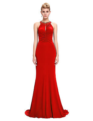 Lady Long Ball Party Gowns Formal Evening Party Cocktail Bridesmaid Dress Size:4