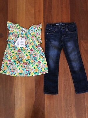 Girls COUNTRY RD ROAD TOP DKNY JEANS size 4 Net