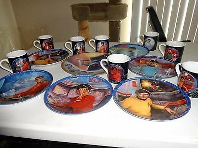 Star Trek Collector Plates And Cups