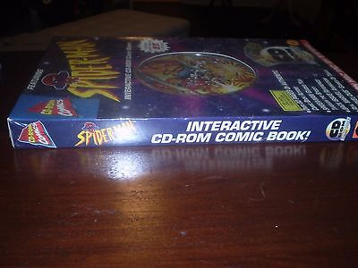 Spider-Man Interactive CD-ROM Comic Book 1st Issue! Factory Sealed 1995 Toy Biz