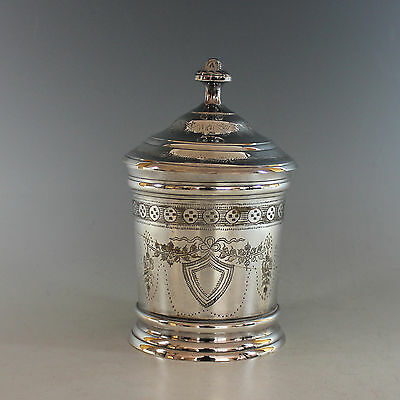 Vintage Silverplate Biscuit Box Barrel Silver Plate