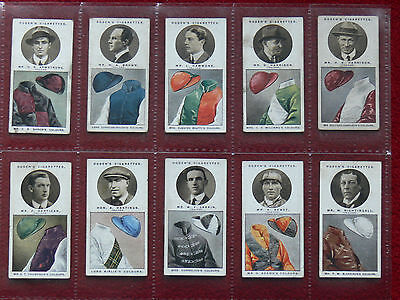 """20, 1927 """"Steeplechase Trainers & Owners Colours""""Cigarette cards."""